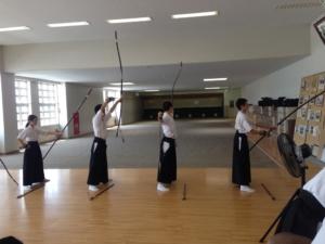 """""""KYUDO"""" Team (Archery), Saitama Sakae High School"""